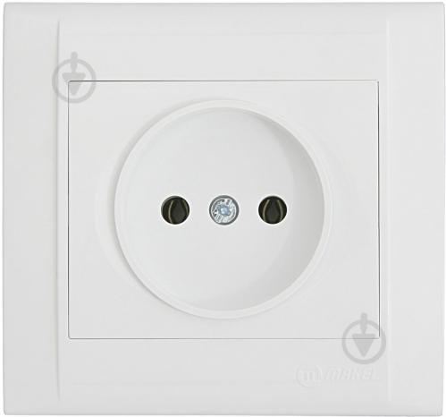 Розетка без заземления Makel Defne без шторок белый 42001022 - фото 2