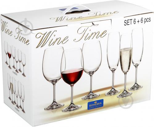 Набор бокалов Wine Time 12 предметов Bohemia - фото 8