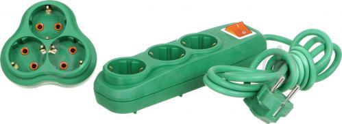 Комплект Nilson удлинитель + тройник с заземлением 3 гн. зеленый 2 м - фото Комплект Nilson удлинитель + тройник с заземлением 3 гн. зеленый 2 м - фото 6