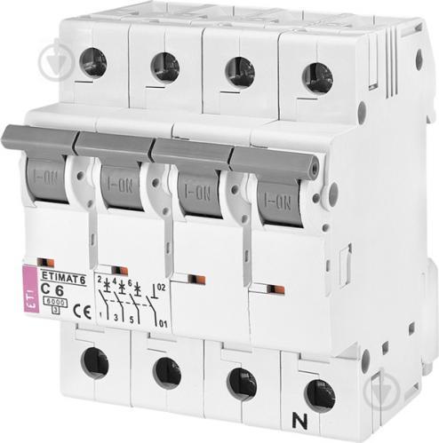 Автоматический выключатель ETI 6 3p+N C 16А (6 kA) 2146516 - фото 2