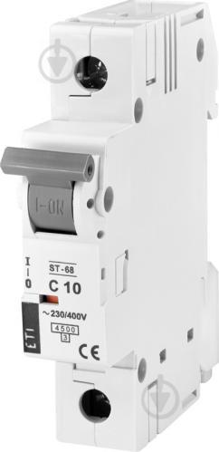 Автоматический выключатель ETI ST-68 1p C 10А (4,5 kA) 2181314 - фото 2