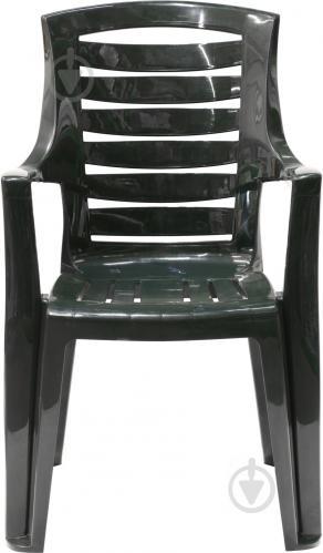 Стул пластиковый Алеана Рекс 87x63x56 см темно-зеленый - фото 4