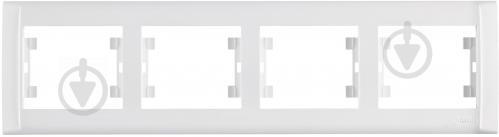 Рамка четырехместная Makel Defne горизонтальная белый 42001704 - фото 2