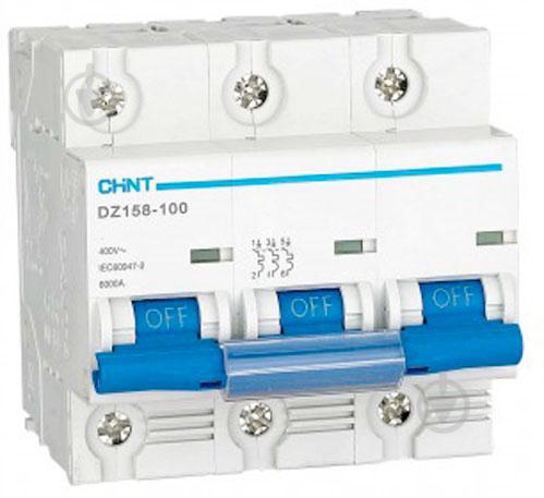 Автоматический выключатель DZ158-125 3P 100A 6kA 158068 - фото Автоматический выключатель DZ158-125 3P 100A 6kA 158068 - фото 2