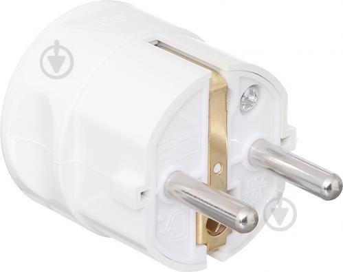 Вилка электрическая UP! (Underprice) CT9 с заземлением 220В 16А IP20 белый - фото Вилка электрическая UP! (Underprice) CT9 с заземлением 220В 16А IP20 белый - фото 5