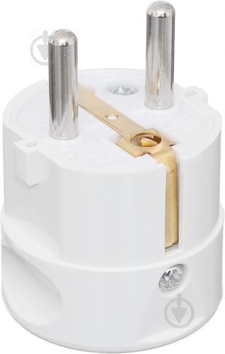 Вилка электрическая UP! (Underprice) CT9 с заземлением 220В 16А IP20 белый - фото Вилка электрическая UP! (Underprice) CT9 с заземлением 220В 16А IP20 белый - фото 4