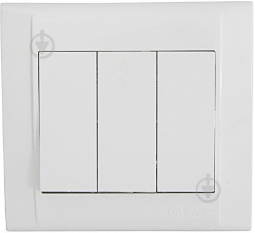 Выключатель трехклавишный Makel Defne без подсветки 10 А 250В белый 42001091 - фото 2