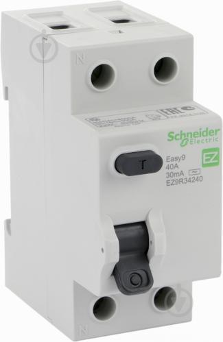 Дифференциальное реле Schneider Electric EASY 9 2Р 40 А 30 мА AC EZ9R34240 - фото 2