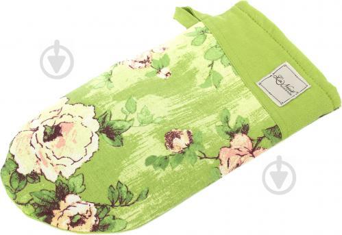Прихватка-варежка Розы 15x29 см зеленый La Nuit - фото 5
