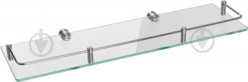 Полочка стеклянная МТ ППО 500х150 мм рейлинг - фото 3