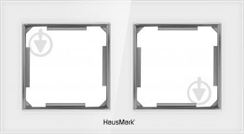 Рамка двухместная HausMark Alta универсальная белое стекло SNG-FRG. SQ20G2-WH - фото Рамка двухместная HausMark Alta универсальная белое стекло SNG-FRG.SQ20G2-WH - фото 2