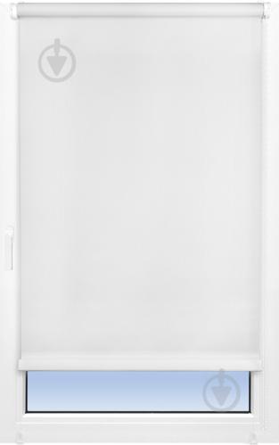 Ролета мини Delfa Лен 62x160 см белая - фото 7