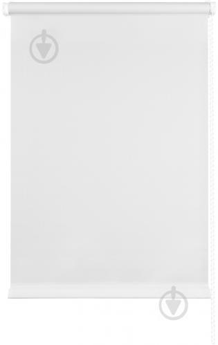 Ролета мини Delfa Лен 62x160 см белая - фото 6
