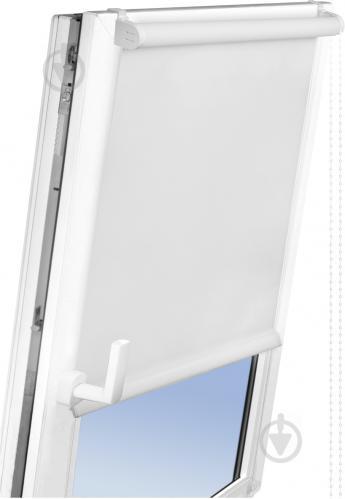 Ролета мини Delfa Лен 62x160 см белая - фото 8