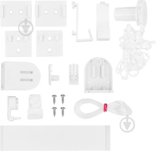 Ролета мини Delfa Лен 62x160 см белая - фото 9