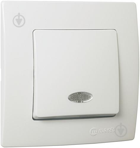 Выключатель одноклавишный Makel Lillium Natural Kare с подсветкой 10 А 250В белый 32001021 - фото 2