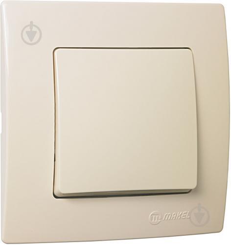 Выключатель одноклавишный Makel Lillium Natural Kare без подсветки 10 А 250В кремовый 32010001 - фото 2