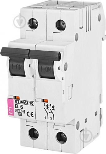 Автоматический выключатель ETI 10 2p B 40А (10 kA) 2123720 - фото 2