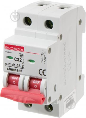 Автоматический выключатель E. next e. mcb. stand.45.2.C32, 2р, С 32 А, 4.5 кА s002020 - фото Автоматический выключатель E.next e.mcb.stand.45.2.C32, 2р, С 32 А, 4.5 кА s002020 - фото 2