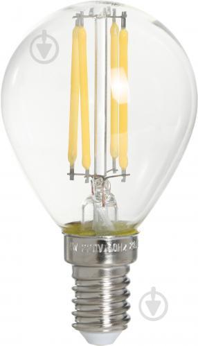 Лампа светодиодная Maxus FM G45 4 Вт E14 3000 К 220 В прозрачная 1-LED-547-01 - фото Лампа светодиодная Maxus FM G45 4 Вт E14 3000 К 220 В прозрачная 1-LED-547-01 - фото 5