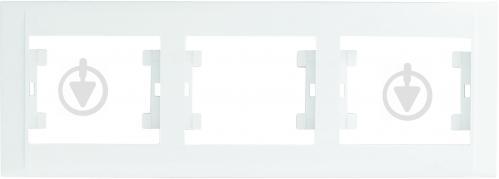 Рамка трехместная Makel Defne горизонтальная белый 42001703 - фото 2