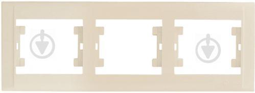 Рамка трехместная Makel Defne горизонтальная кремовый 42010703 - фото 2