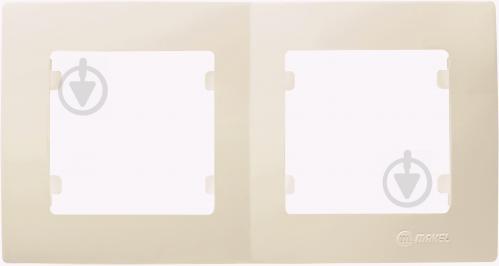 Рамка двухместная Makel Lilium Natural Kare горизонтальная кремовый 32010702 - фото 2