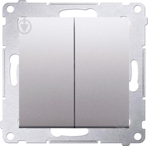 Выключатель двухклавишный Simon Premium без подсветки 10 А 250В серебряный DW5.01/43 - фото Выключатель двухклавишный Simon Premium без подсветки 10 А 250В серебряный DW5.01/43 - фото 2