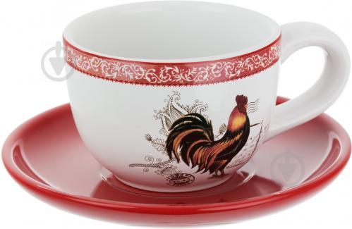 Чашка с блюдцем Петух 250 мл 358-705 - фото 5