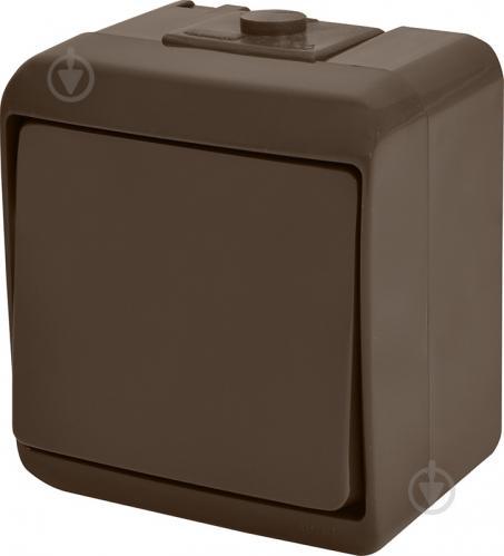 Выключатель одноклавишный ETI Hermetics без подсветки 10 А 250В коричневый 4668040 - фото 2