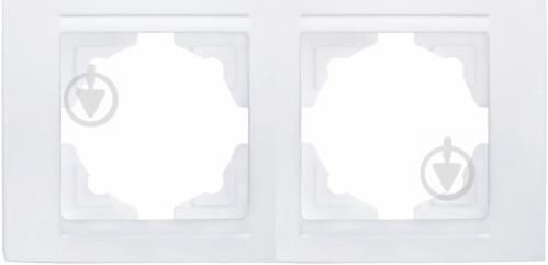 Рамка двухместная Gunsan Moderna универсальная белый MD 29 11 141 - фото 2