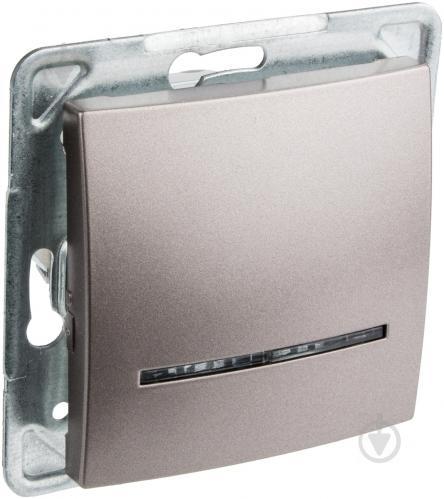 Выключатель одноклавишный Ospel Impresja с подсветкой 16 А 250В IP20 титан LP-1YS/m/23 - фото 6