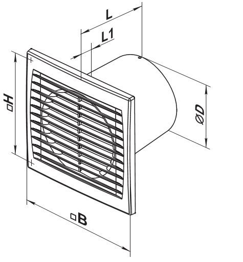 Чертеж вентилятора Вентс 100 Силента С