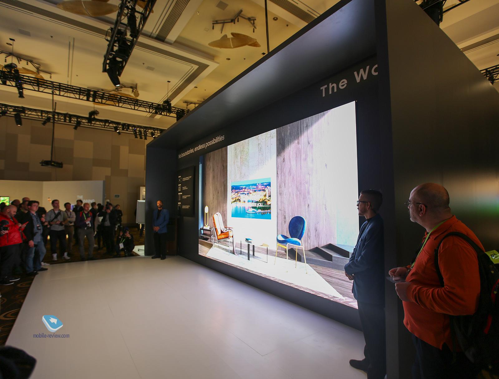 CES 2019. Телевизоры от Samsung - фото CES 2019. День первый - телевизоры от Samsung и игровые карты NVidia
