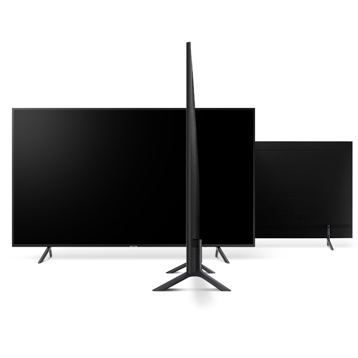 Телевизор SAMSUNG UE55RU7102 (2019г) 4K UHD 3840 x 2160, SMART TV, PQI (Picture Quality Index) 1400, HDR 10+, DVB-T2C - фото Slim Design