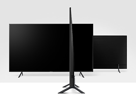 Телевизор SAMSUNG UE50RU7102 (2019г) 4K UHD 3840 x 2160, SMART TV, PQI (Picture Quality Index) 1400, HDR 10+, DVB-T2C - фото 4. Тонкий корпус