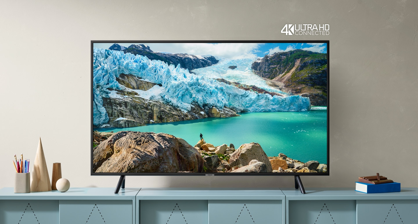 Телевизор SAMSUNG UE50RU7102 (2019г) 4K UHD 3840 x 2160, SMART TV, PQI (Picture Quality Index) 1400, HDR 10+, DVB-T2C - фото Get more detail, get more delight