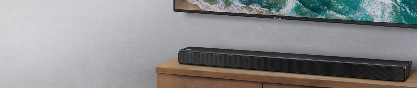 Телевизор SAMSUNG UE50RU7102 (2019г) 4K UHD 3840 x 2160, SMART TV, PQI (Picture Quality Index) 1400, HDR 10+, DVB-T2C - фото Soundbar optimized for Samsung TVs