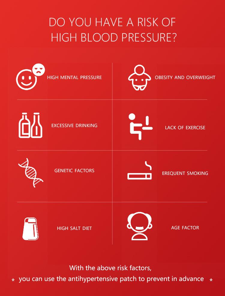 1 коробка = 14 шт., китайские травяные медицинские пластыри для снижения давления и гипертонии