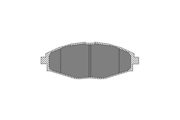 SP 213 PR Комплект передних тормозных колодок, дисковый тормоз SCT MANNOL - фото 213.jpg