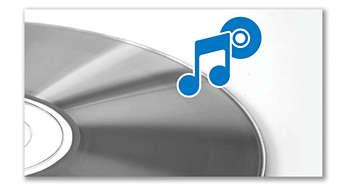 Магнитола  PHILIPS CD, AZ420/12 - фото Воспроизведение MP3-CD, CD и CD-R/RW