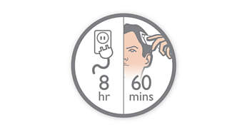 Машинка для стрижки PHILIPS QC5130/15 - фото 60минут автономной работы после зарядки в течение 8часов