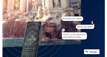 Телевизор PHILIPS 65OLED803 4K Ultra HD OLED, Android TV, Ambilight+Hue, Процессор P5 Perfect Picture, PPI 4500 - фото Встроенный голосовой помощник Google Assistant: поиск контента и другие возможности.