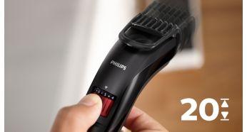 Тример для бороди та вусів Philips QT4005/15 - фото Установки длины легко выбрать и зафиксировать, от 0,5мм до 10мм