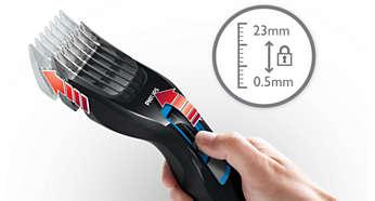 13установок длины от 0,5 до 23мм, которые легко выбрать и зафиксировать.