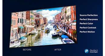 Телевизор PHILIPS 65OLED973 4K Ultra HD OLED, Android TV, Ambilight+Hue, Процессор P5 Perfect Picture, PPI 4100 - фото Процессор Philips P5: превосходное качество с любого источника.