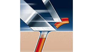 Технологія гоління Super Lift & Cut із системою з двома лезами