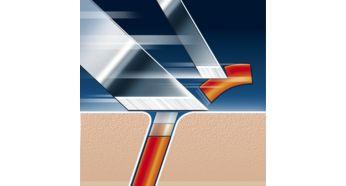 Головки для бритви Philips HQ8/50 - фото Технология Lift & Cut с двойной системой лезвий