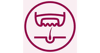 Эпилятор Philips HP6428/00 - фото Благодаря эффективной системе эпиляции волоски удаляются с корнем