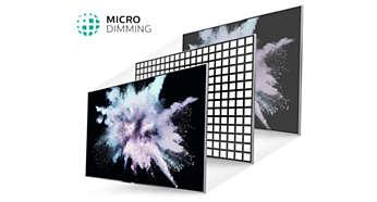 Телевизор Philips 43PUS6523 4K Ultra HD LED TV, Smart TV, Wi-Fi, Четыре ядра, DVB T/C/T2/T2-HD/S/S2 - фото Технология Micro Dimming оптимизирует контрастность изображения на экране телевизора